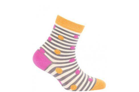 Dívčí vzorované ponožky WOLA PUNTÍČKY Velikost: 21-23 Dětské oblečení