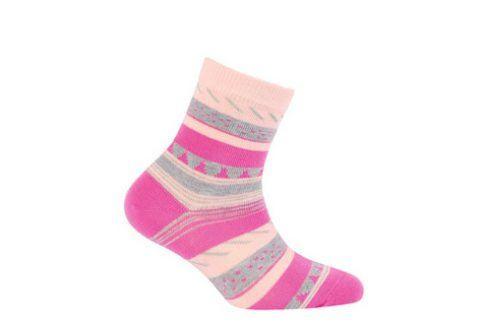 Dívčí vzorované ponožky WOLA Velikost: 21-23 Dětské oblečení
