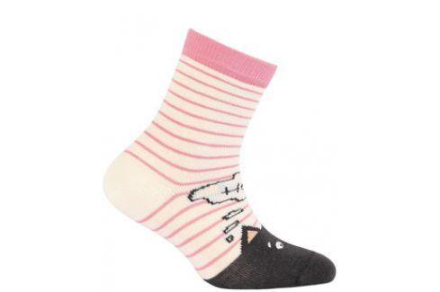 Dívčí vzorované ponožky WOLA KOČKA Velikost: 24-26