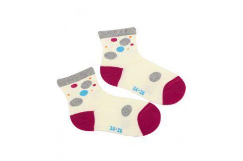 Dívčí vzorované ponožky WOLA PUNTÍK Velikost: 21-23 Dětské oblečení