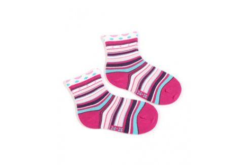 Dívčí ponožky se vzorem WOLA PROUŽKY Velikost: 21-23 Dětské oblečení