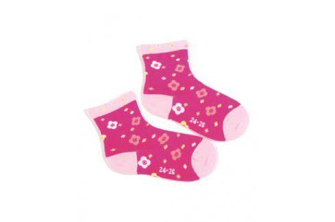Dívčí ponožky se vzorem WOLA KYTIČKY Velikost: 21-23 Dětské oblečení