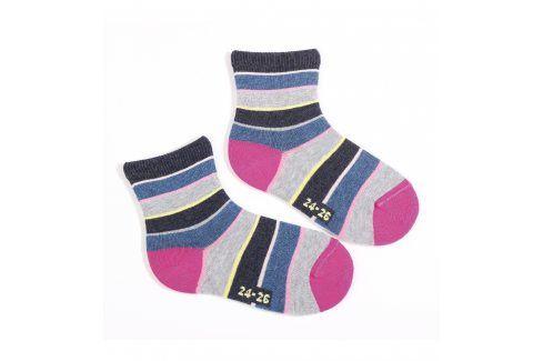 Dětské ponožky WOLA vzor PROUŽKY Velikost: 21-23 Dětské oblečení