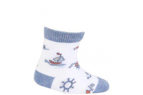 Vzorované kojenecké ponožky GATTA LOĎKY Velikost: 15-17 Dětské oblečení