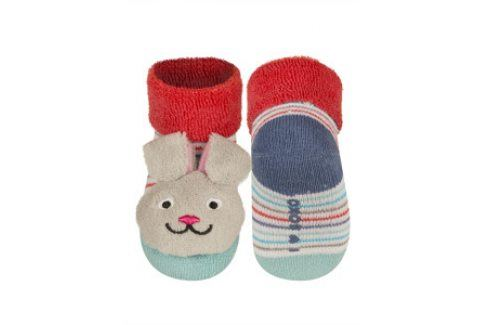 SOXO Ponožky s chrastítkem ZAJÍC Velikost: 16-18