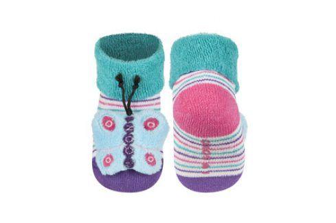 SOXO Ponožky s chrastítkem MOTÝL Velikost: 16-18 Dětské ponožky s chrastítkem