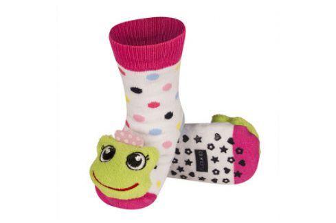 SOXO Ponožky s chrastítkem ŽABKA Velikost: 19-21 Dětské ponožky s chrastítkem