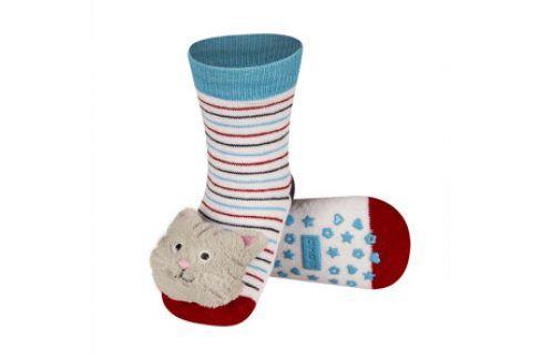 SOXO Ponožky s chrastítkem KOČKA Velikost: 19-21 Dětské ponožky s chrastítkem
