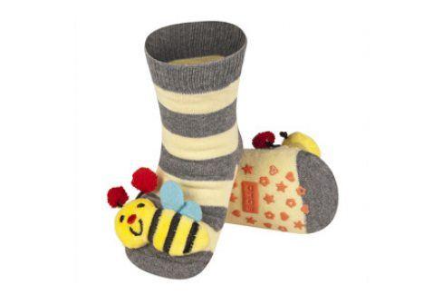 SOXO Ponožky s chrastítkem VČELKA Velikost: 19-21 Dětské ponožky s chrastítkem
