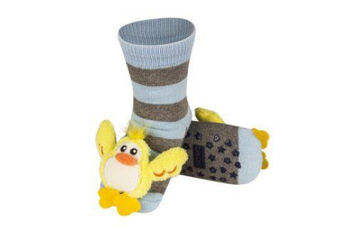 SOXO Ponožky s chrastítkem KAČENKA Velikost: 19-21 Dětské ponožky s chrastítkem