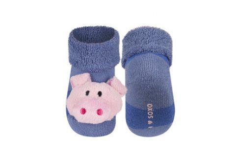 SOXO Ponožky s chrastítkem PRASÁTKO Velikost: 16-18 Dětské ponožky s chrastítkem