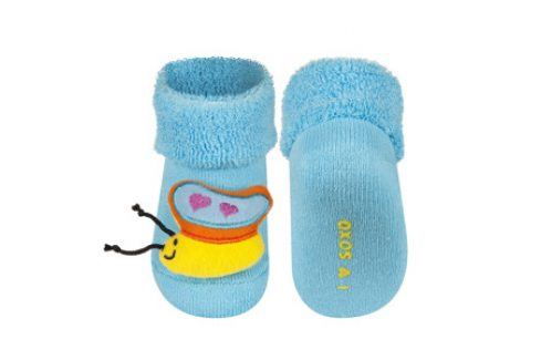 SOXO Ponožky s chrastítkem MOTÝLEK Velikost: 16-18 Dětské ponožky s chrastítkem