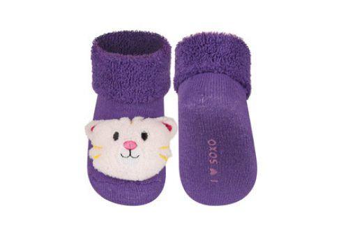 SOXO Ponožky s chrastítkem TYGŘÍK Velikost: 16-18 Dětské ponožky s chrastítkem