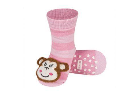 SOXO Ponožky s chrastítkem OPICE Velikost: 19-21 Dětské ponožky s chrastítkem