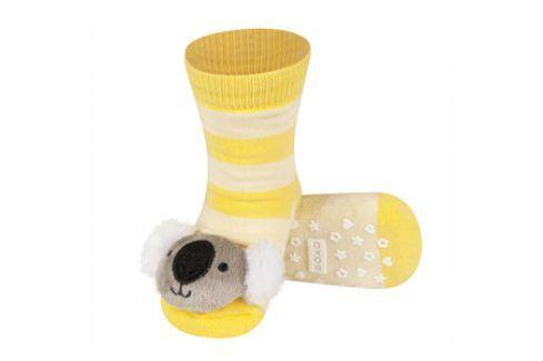 SOXO Ponožky s chrastítkem KOALA žluté Velikost: 19-21 Dětské ponožky s chrastítkem