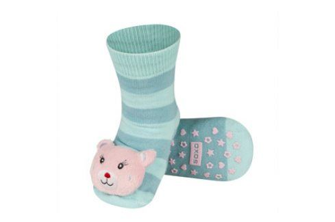 SOXO Ponožky s chrastítkem ZVÍŘÁTKO Velikost: 19-21 Dětské ponožky s chrastítkem
