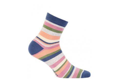 Dívčí vzorované ponožky WOLA PROUŽKY Velikost: 36-38 Dětské oblečení