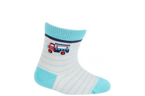 Vzorované kojenecké ponožky WOLA NÁKLAĎÁK Velikost: 15-17 Dětské oblečení