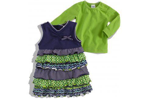 Kojenecké šaty a tričko DIRKJE FIINY GIRL zelená Velikost: 62 Kojenecké soupravy