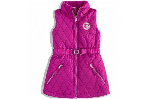 Dívčí vesta DIRKJE KISSY purpurová Velikost: 92 Dětské bundy a kabáty