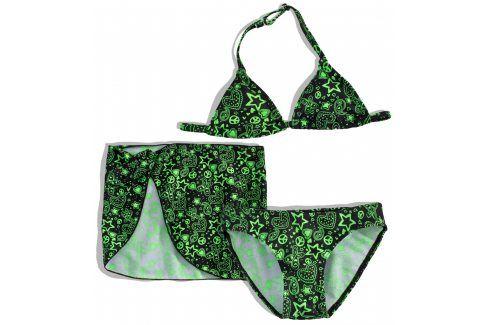Dívčí plavky s pareem Dirkje HIPPIE zelené Velikost: 92 Dětské plavky