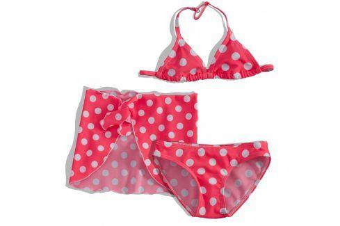 Dívčí plavky s pareem Dirkje PUNTÍKY růžové Velikost: 92