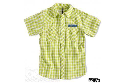 Chlapecká košile s krátkým rukávem BOYSTAR světle zelená Velikost: 176 Trička a košile