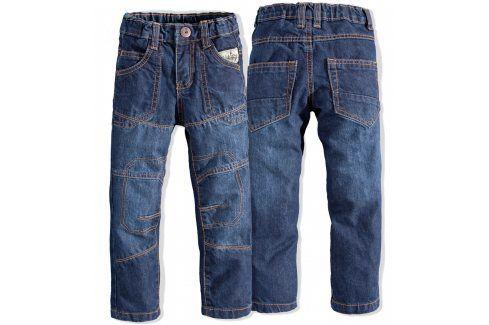 Chlapecké rifle PEBBLESTONE STITCHY modré Velikost: 92-98 Dětské kalhoty