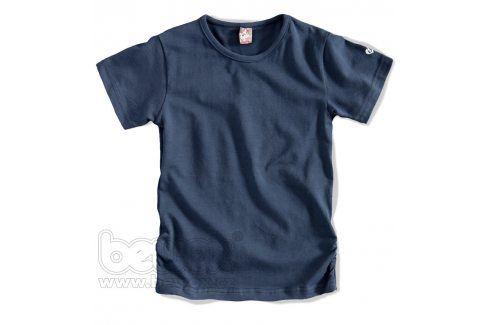GIRLSTAR Dívčí jednobarevné tričko tmavě modré Velikost: 92-98 Trička a košile