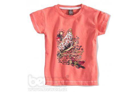 GIRLSTAR Dívčí tričko s krátkým rukávem MOTÝL oranžové Velikost: 92-98 Trička a košile