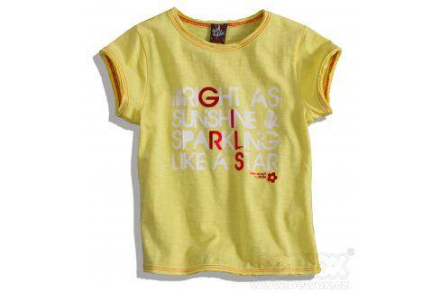 Dívčí tričko GIRLSTAR žluté Velikost: 92-98 Trička a košile