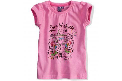 Dívčí tričko PEBBLESTONE Skate růžové Velikost: 104 Trička a košile