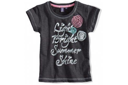Dívčí tričko krátký rukáv PEBBLESTONE šedé Velikost: 92-98 Trička a košile