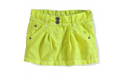 Dívčí sukně PEBBLESTONE zelená neon Velikost: 92-98 Šaty, sukně