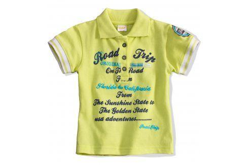 Dětská polokošile DIRKJE ROAD TRIP žlutá Velikost: 80 Kojenecká trička a košilky
