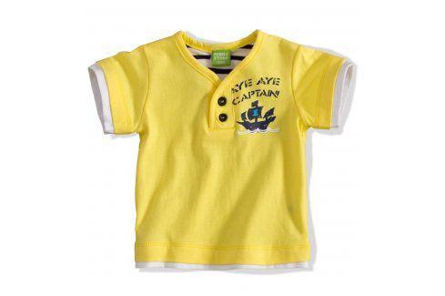 PEBBLESTONE Kojenecké tričko s krátkým rukávem žluté Velikost: 68 Kojenecká trička a košilky