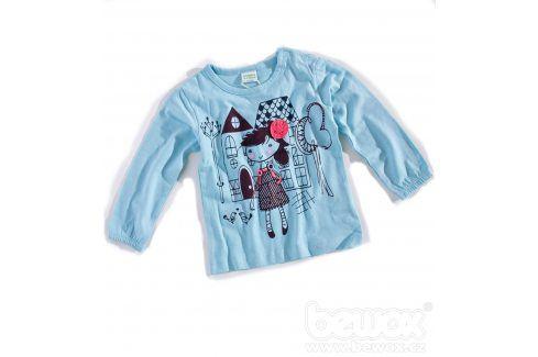 Kojenecké triko PEBBLESTONE HOLČIČKA modré Velikost: 68 Kojenecká trička a košilky