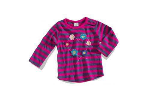 Kojenecké triko PEBBLESTONE KYTIČKY modré Velikost: 68 Kojenecká trička a košilky