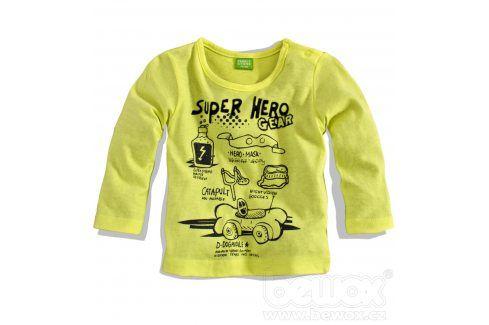 Chlapecké triko PEBBLESTONE HERO žluté Velikost: 68 Kojenecká trička a košilky