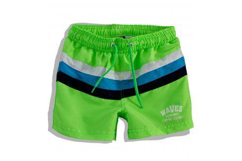 PEBBLESTONE Chlapecké plavky PRUHY zelené Velikost: 110 Dětské plavky