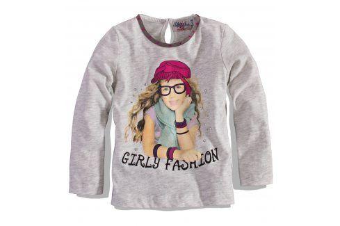 KNOT SO BAD Dívčí triko s dlouhým rukávem KnotSoBad GIRLY FASHION světle šedé Velikost: 92 Trička a košile