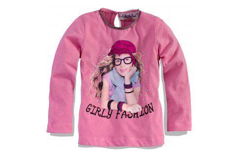 KNOT SO BAD Dívčí triko s dlouhým rukávem KnotSoBad GIRLY FASHION růžové Velikost: 92 Trička a košile