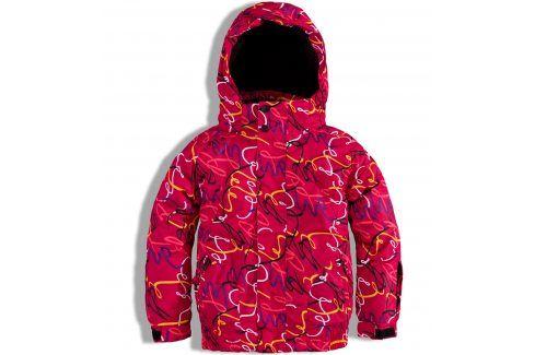 Dívčí zimní lyžařská bunda Knot So Bad SKI červená Velikost: 164 Dětské bundy a kabáty