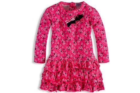 Kojenecké šaty DIRKJE KYTIČKY růžové Velikost: 80