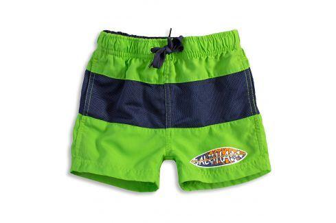 Chlapecké koupací šortky KNOT SO BAD SURF BOARD zelené Velikost: 92 Dětské plavky