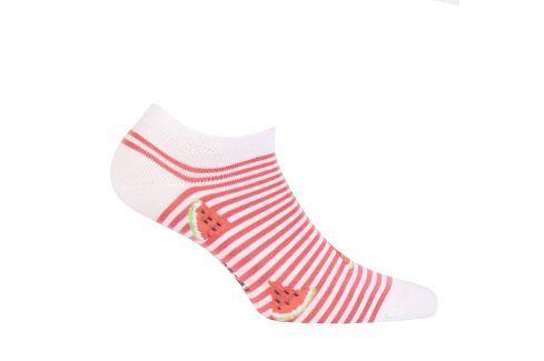 Dívčí kotníkové ponožky WOLA MELOUN bílé Velikost: 33-35 Dětské oblečení
