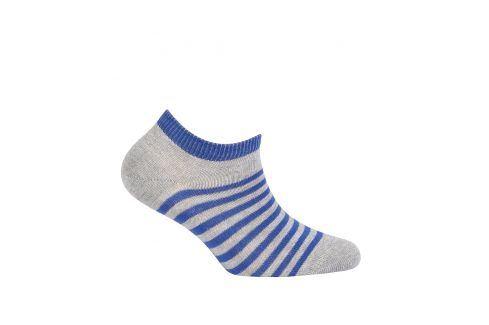 Dětské kotníkové ponožky WOLA PROUŽKY modré Velikost: 21-23