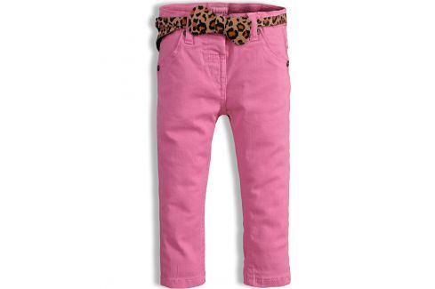 Dívčí kalhoty MINOTI PARTY světle růžové Velikost: 74-80