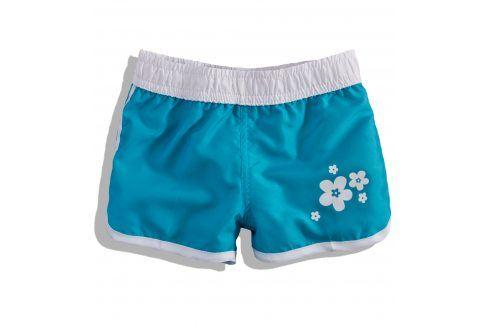 Dívčí plavkové šortky Knot So Bad FLOWER tyrkysové Velikost: 92 Dětské šortky