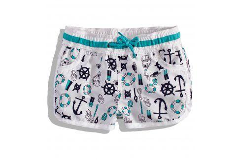 Dívčí šortky Knot So Bad SAILOR tyrkysový pásek Velikost: 92 Dětské šortky